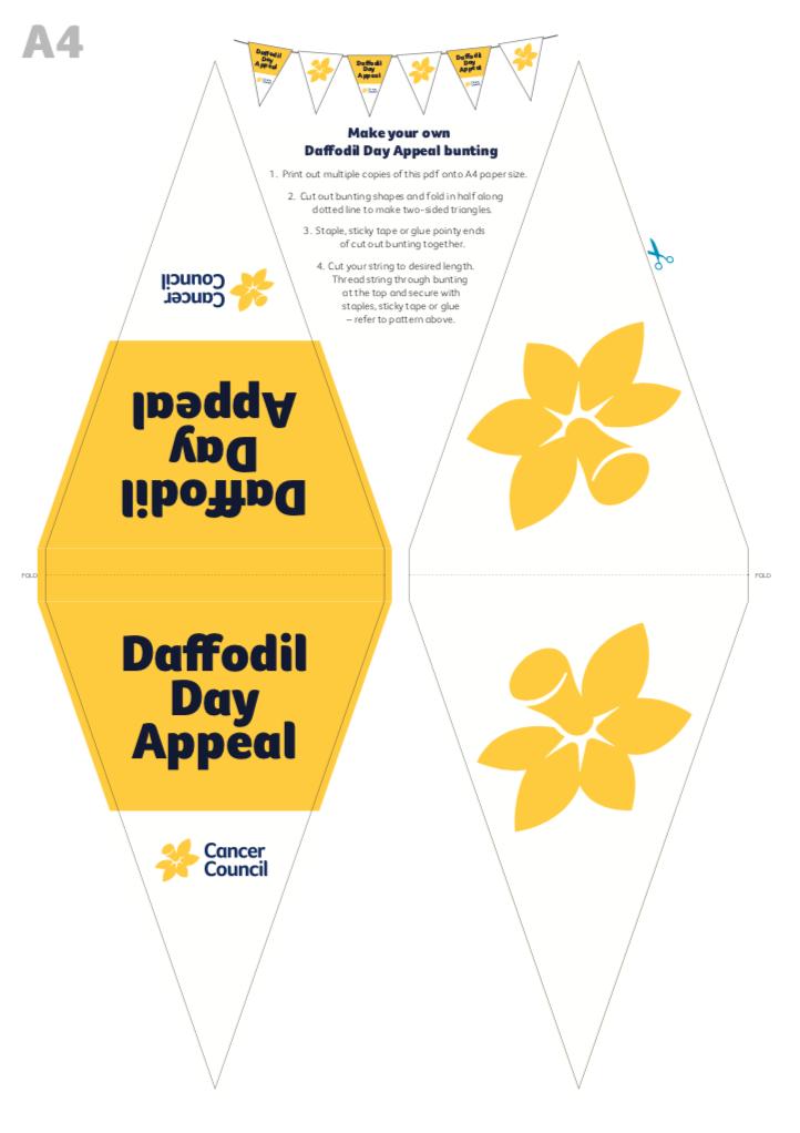 Daffodil Day Bunting