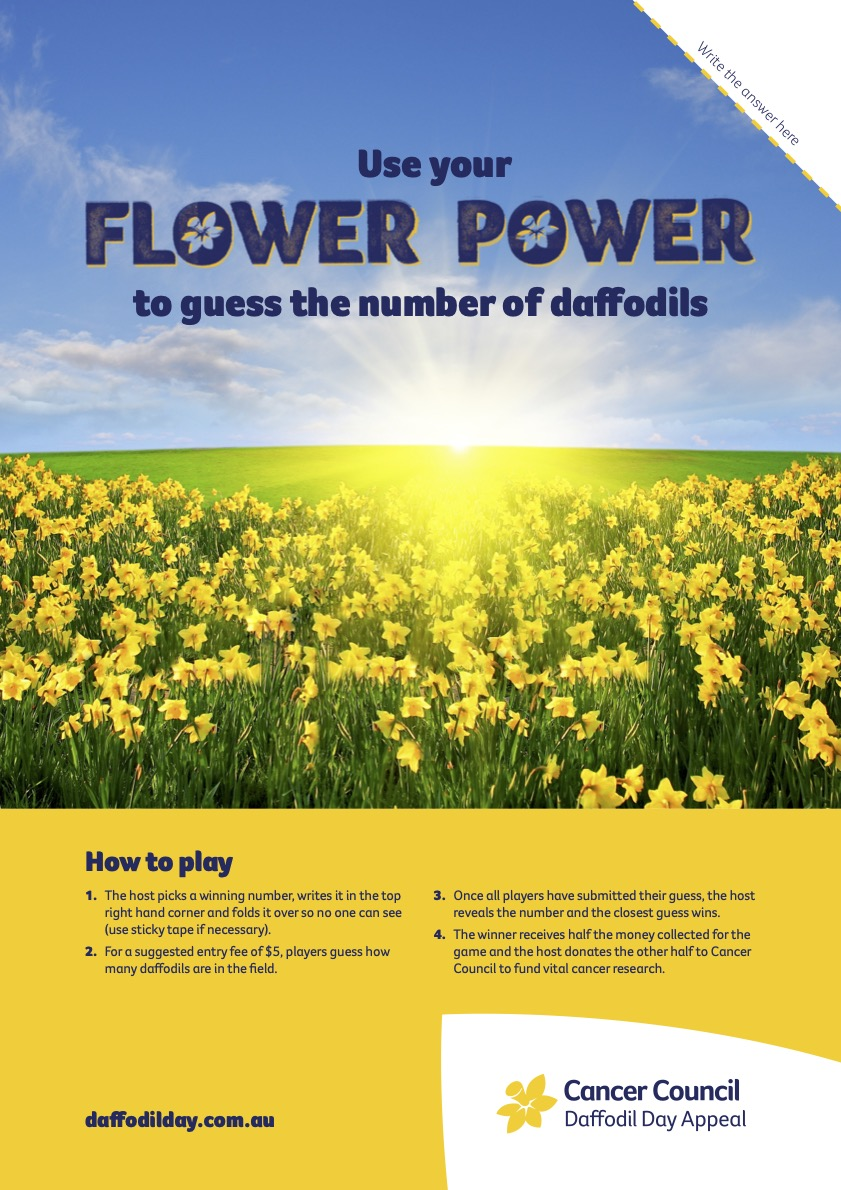Guess How Many Daffodils Poster