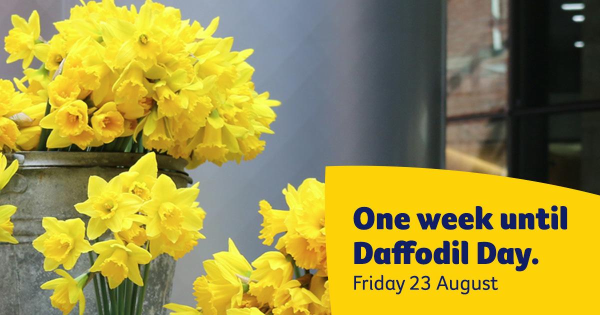 One week until Daffodil Day Facebook image